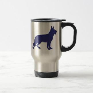 German Shepherd Silhouette Stainless Steel Travel Mug