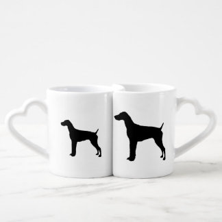 German Short-haired Pointer dog Silhouette Lovers Mug Sets