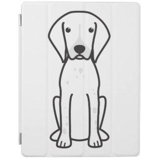 German Shorthaired Pointer Dog Cartoon iPad Cover