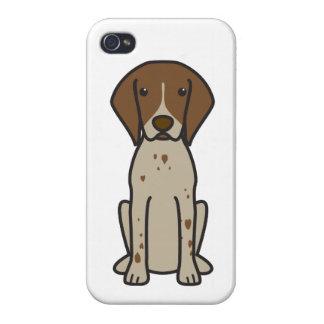 German Shorthaired Pointer Dog Cartoon iPhone 4 Case