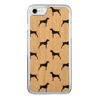 German Shorthaired Pointer Silhouettes Pattern Carved iPhone 8/7 Case
