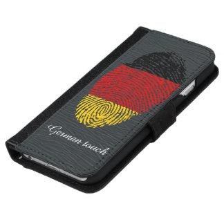 German touch fingerprint flag iPhone 6 wallet case