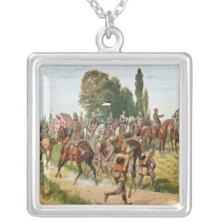 German Uniforms Silver Plated Necklace