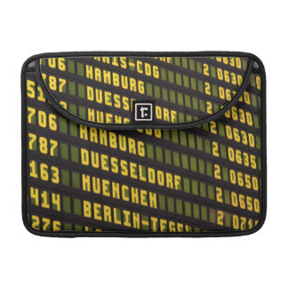 Germany Departure Board Sleeve For MacBook Pro
