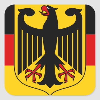 germany emblem square sticker