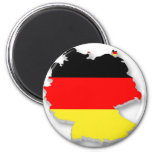 Germany Fla in the Shape of Germany Refrigerator Magnets