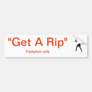 """Get A Rip"" Fastpitch Only Car Bumper Sticker"