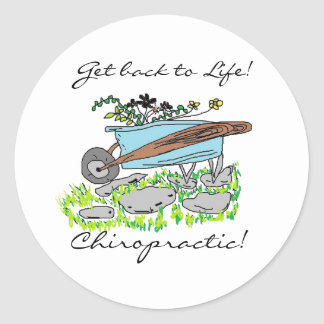Get back to Chiropractic Classic Round Sticker