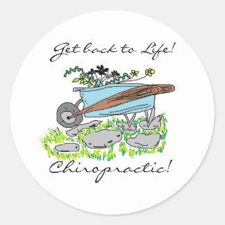 Get back to Chiropractic Round Sticker