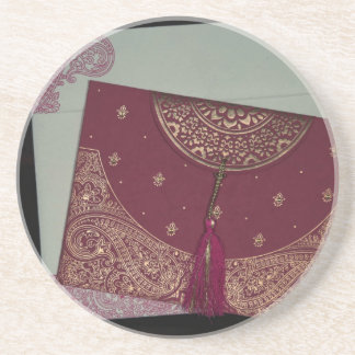 Get Designer Hindu Wedding Cards Sandstone Coaster