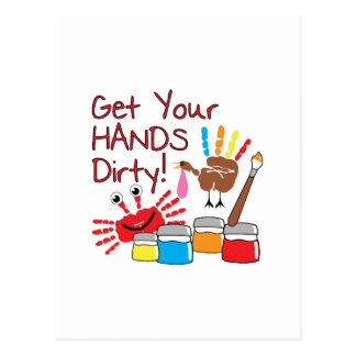Get Hands Dirty Postcard
