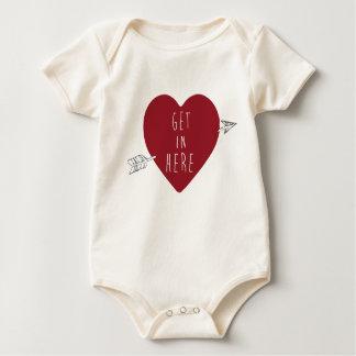 Get in Here Heart Baby Organic Bodysuit