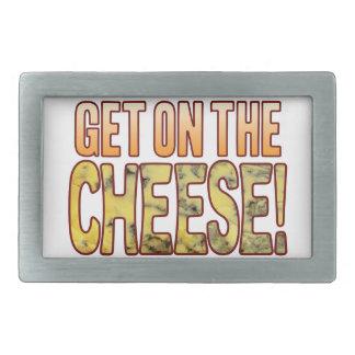 Get On Blue Cheese Rectangular Belt Buckles