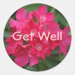 Get Well, Bright Flowers Sticker