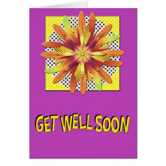 Get Well Flower Burst Card