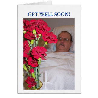 Get Well, For Man, Greeting Card