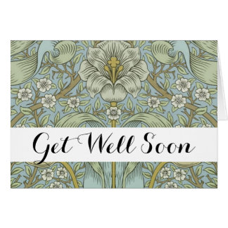 Get Well Greeting Card Template Morris Design
