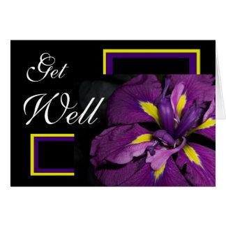 Get Well Iris Greeting Card