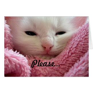 Get Well Kitten Note Card