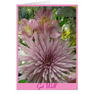 Get Well pink *customize Greeting Card