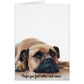 Get Well Soon Bulldog Dog Lover Card