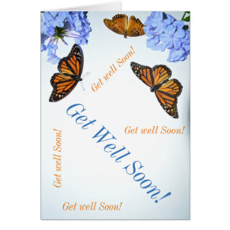 Get Well Soon Butterfly Card