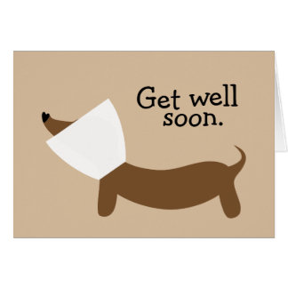 Get Well Soon Dachshund Card