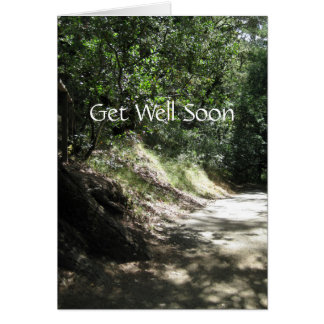 Get Well Soon Road To Recovery Card