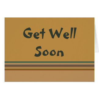 Get Well Soon Stripes Card