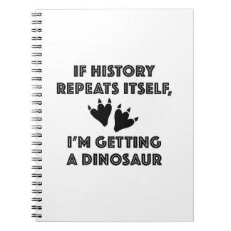 Getting A Dinosaur Spiral Notebook