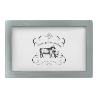 Getting Back to Our Sheep - Funny French Farm Belt Buckle