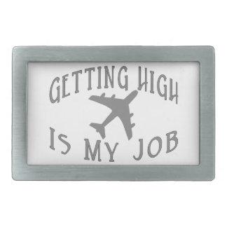Getting High Airline Pilot Rectangular Belt Buckles
