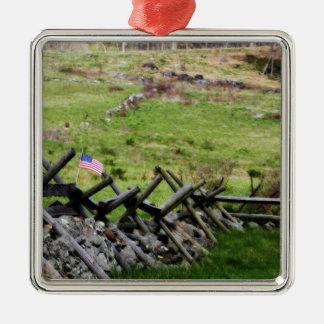 Gettysburg Battlefield Christmas Ornament