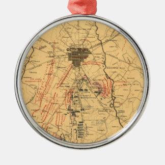 Gettysburg & Vicinity Troop Positions July 3 1863 Christmas Ornament