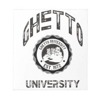 Ghetto University Notepads