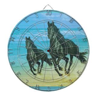 Ghora Chowpati - Wild Black Horse Pair Dartboard