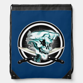 Ghost Chef Skull Drawstring Bag