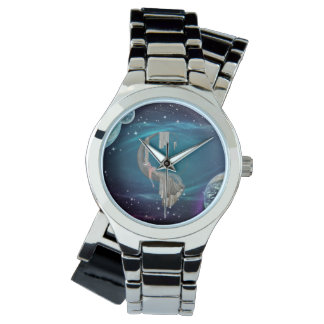 """Ghost Gear """"Stargazer"""" Wraparound Silver Watch"""