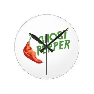 Ghost Pepper Round Clock