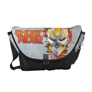 Ghost Rider Skull Badge Messenger Bag
