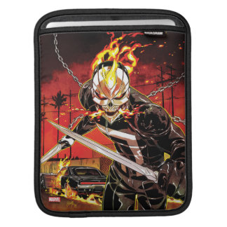 Ghost Rider With Knives iPad Sleeve