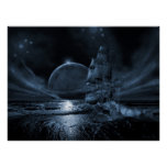 Ghost ship series: Full moon rising Posters