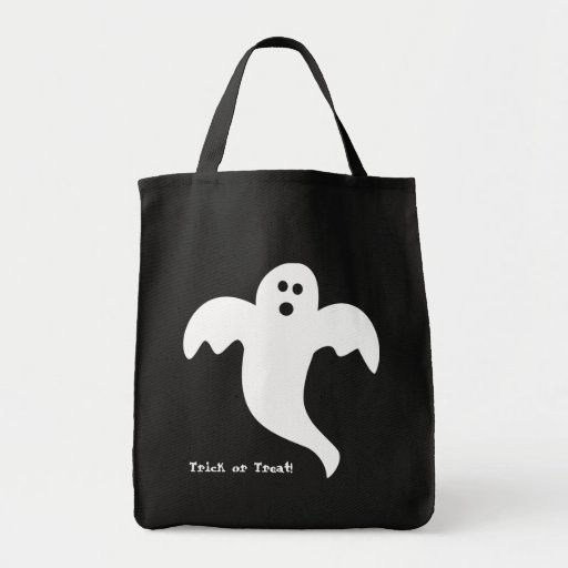 Ghost Trick or Treat Halloween Tote Tote Bags