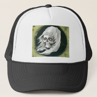 Ghostly Reaper Trucker Hat