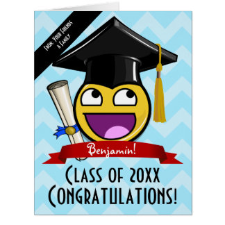 Giant Awesome Face Graduation Custom Big Card