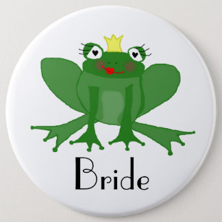 Giant Bride Badge with Princess Frog