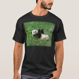 Giant Panda Lounging Eating Bamboo T-Shirt