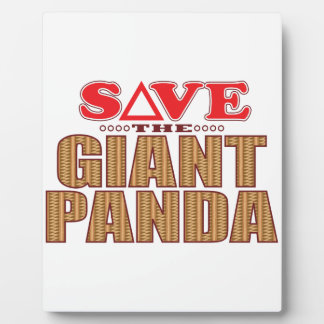 Giant Panda Save Plaque