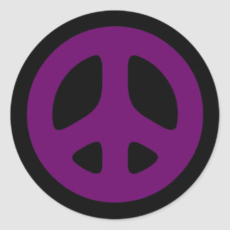Giant Purple Peace Sign Stickers