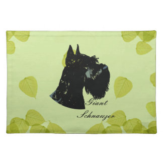 Giant Schnauzer ~ Green Leaves Design Placemat